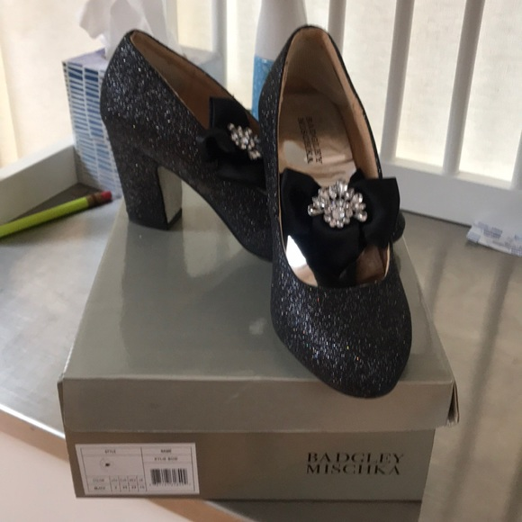 aa0a3ca6305 Girls black sparkle shoes